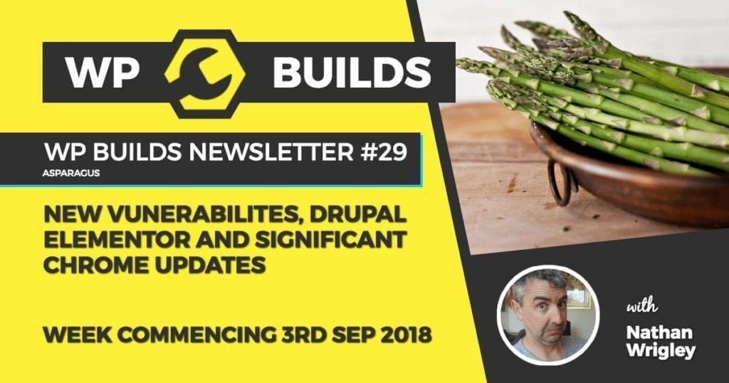 WP Builds Newsletter #29 - New vunerabilites, Drupal Elementor and significant Chrome updates