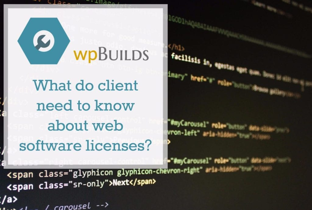 What do client need to know about web software licenses?