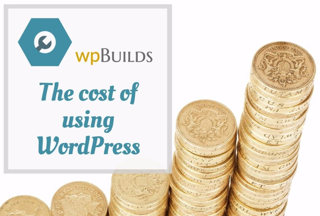 The cost of using WordPress