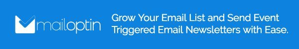 Mail Optin - Grow Your Email List and Send Event Triggered Email Newsletters with Ease