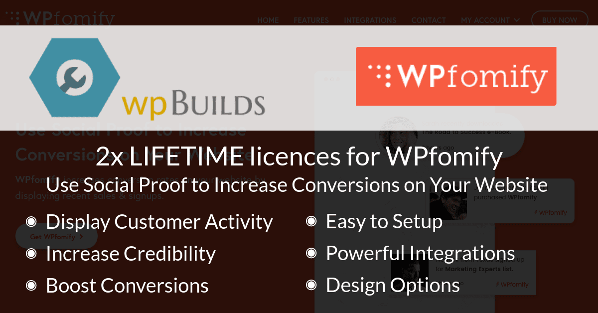 Win LIFETIME access to WPfomify