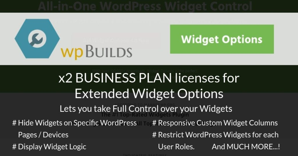 Widget Options for WordPress