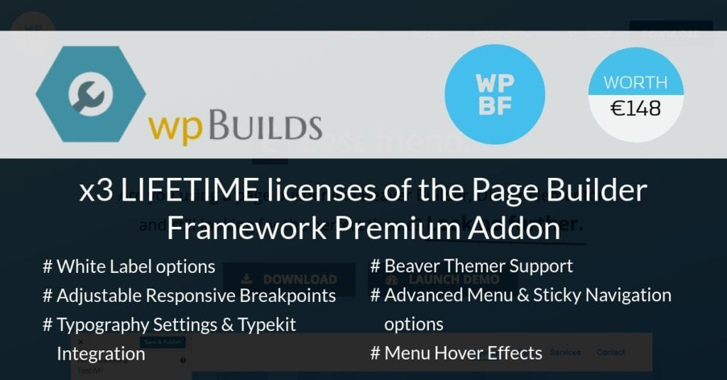 Win a LIFETIME license to the Page Builder Framework Premium Addon