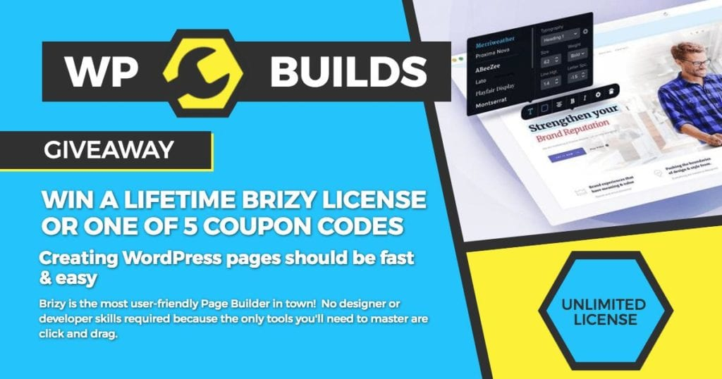 WP Builds Giveaway - Brizy Pro