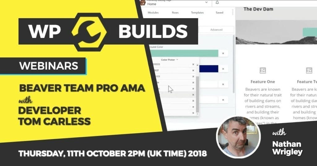 WP Builds - Webinar - Beaver Team Pro