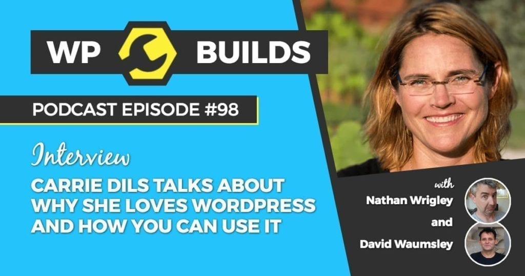 98 - Carrie Dils talks about why she loves WordPress and how you can use it