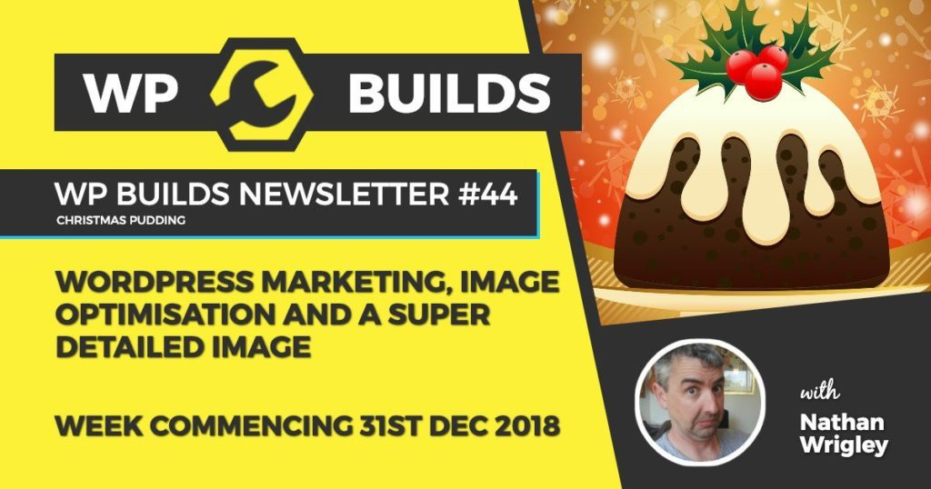 WP Builds Newsletter #44 - WordPress marketing, image optimisation and a super detailed image