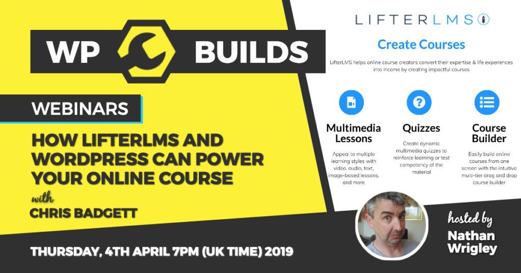 How Lifter LMS and WordPress can power your online course - WP Builds webinar