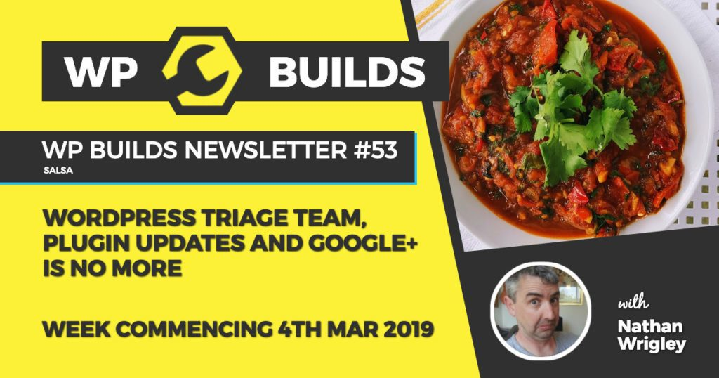 WP Builds Newsletter #53 – WordPress triage team, plugin updates and Google+ is no more