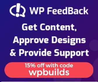 15% off WP Feedback with code wpbuilds