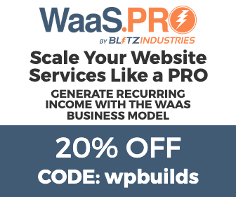 20% off WaaS Pro with the WP Builds Deals Page