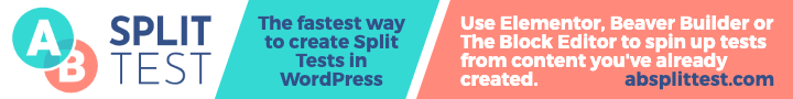 AB Split Test plugin - the fastest way to create split tests in WordPress