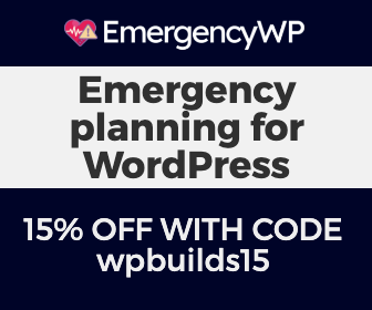 15% off EmergencyWP with WP Builds