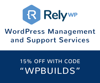 15% off RelyWP - WP Builds Deals