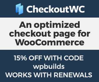 15% off CheckoutWC on the WP Builds Deals Page