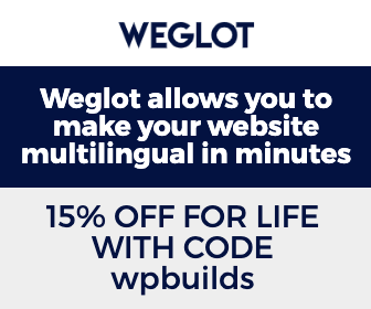 15% off Weglot on the WP Builds Deals Page